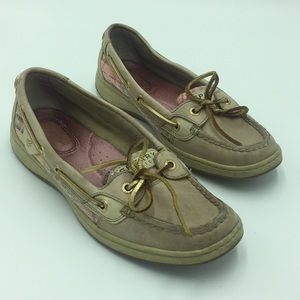 Pink & Gold Sperry Top Sider